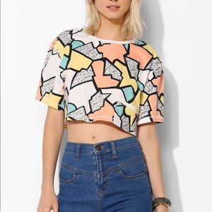 Urban outfitters cooperative abstract crop top